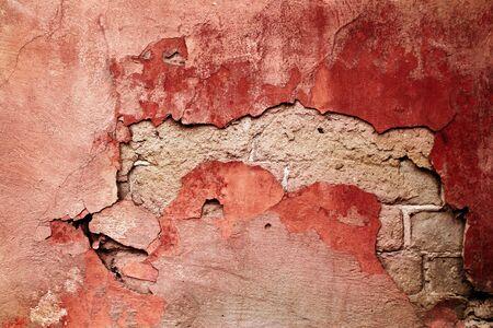 crannied: Cracked grunge stone cement background