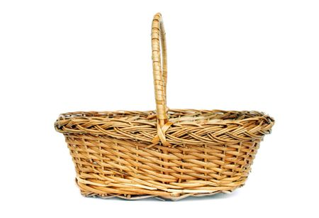 Vintage willow basket for fruits photo