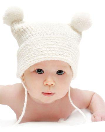 human photography: Beb� reci�n nacido en la tapa del Foto de archivo
