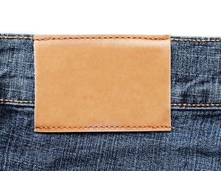 Blue Jeans Label Stock Photo - 6786356