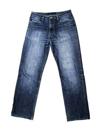 Jeans geïsoleerd op witte achtergrond  Stockfoto