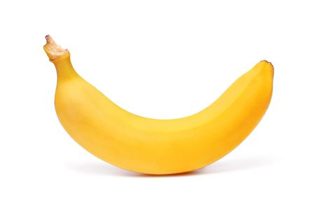Ripe banana isolated on white Stock Photo - 6786037