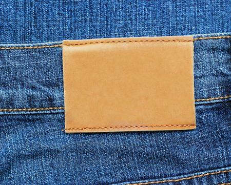 Blue Jeans Label Stock Photo - 6788481