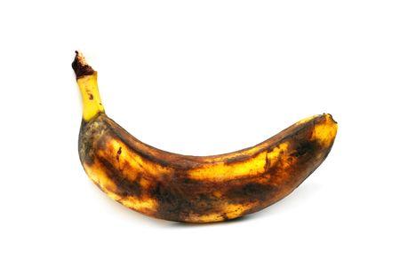 overripe banana isolated on white photo