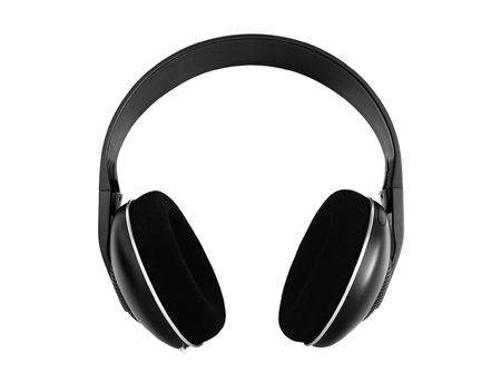 hifi: Hi-fi wireless headphones isolated on white Stock Photo
