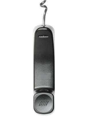 Telephone handset isolated on white photo