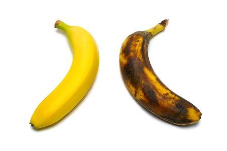 2 bananas isolated on white