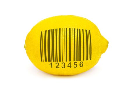 lemon to scan isolated Stock Photo - 6788586