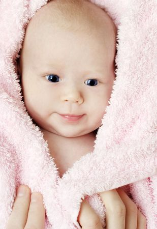 One month old baby in the blanket Stock Photo - 6788062