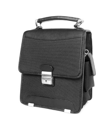pochette: Business bag isolated on white Stock Photo