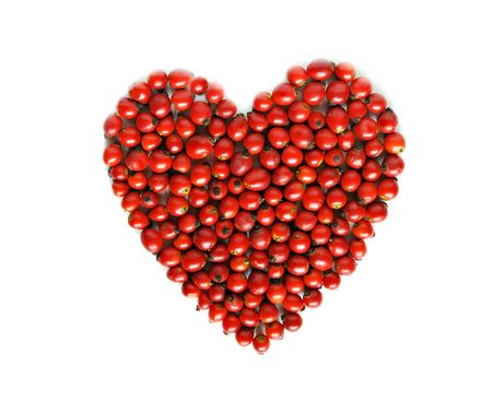 Berry heart isolated on white Stock Photo - 6852509
