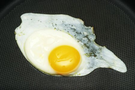 Fried egg in the pan photo