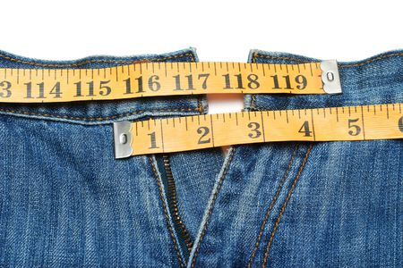 decreasing in size: Jeans and tape measure