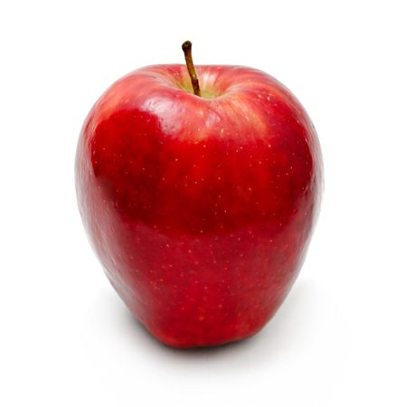 Red apple isolated on white Stock Photo - 6852456