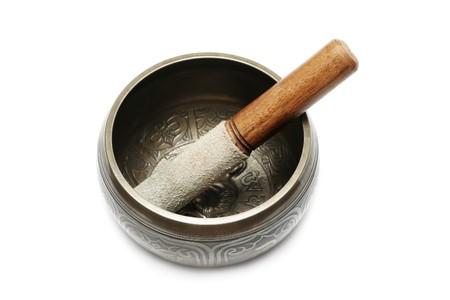 Tibetan singing bowl isolated on white Stock Photo - 6984306