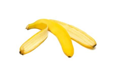 Banana peel isolated on white