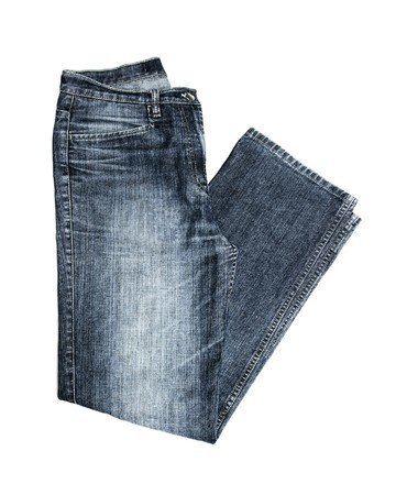 Jeans isolated on white background photo
