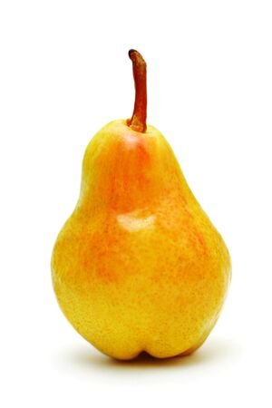 Single ripe pear isolated on white background Stock Photo - 7163268