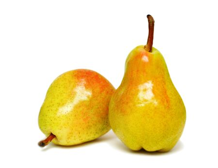 Two ripe pears isolated on a white background Stock Photo - 7163263