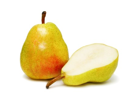 Two ripe pear isolated on white background Stock Photo - 7163259