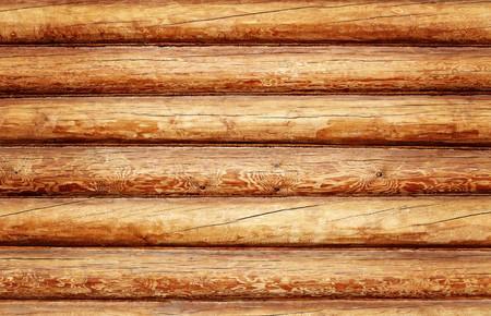 Log huis textuur als een grunge achtergrond Stockfoto