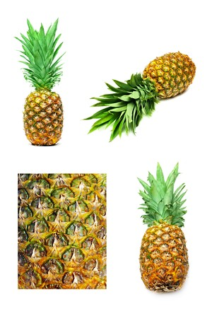 Pineapple set isolated on a white background Stock Photo - 7402484