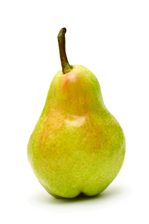 Single ripe pear isolated on white background Stock Photo - 7402395