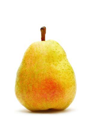 Single ripe pear isolated on white background Stock Photo - 7402397
