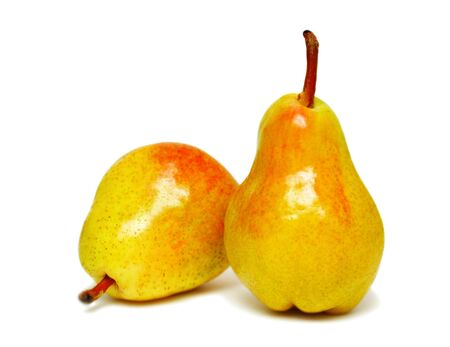 Two ripe pears isolated on a white background Stock Photo - 7402392