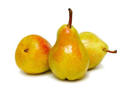 Three ripe pears isolated on white background Stock Photo - 7402405