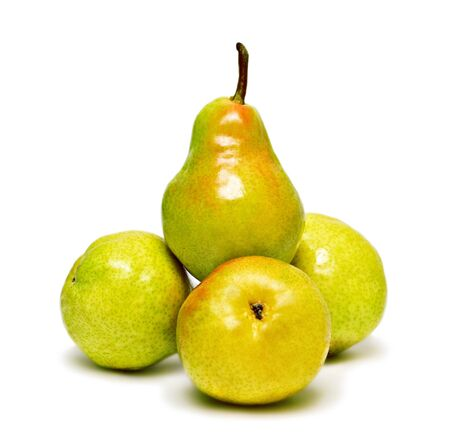 Four ripe pears isolated on white background Stock Photo - 7402391