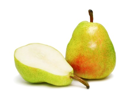 Two ripe pear isolated on white background Stock Photo - 7402387