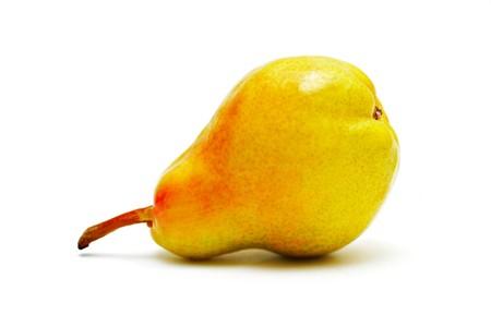 Single ripe pear isolated on white background Stock Photo - 7402390