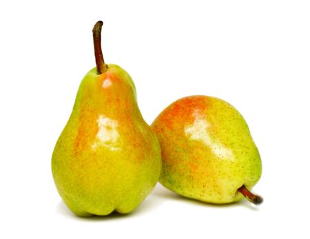 Two ripe pears isolated on a white background Stock Photo - 7402394