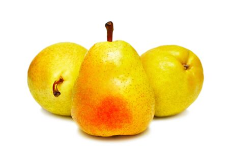 Three pears isolated on a white background Stock Photo - 7402409
