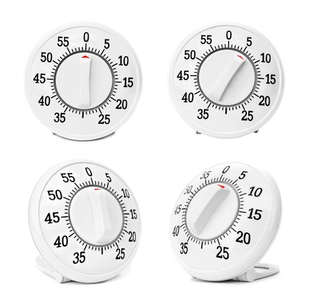 Kitchen timers set isolated on a white background photo