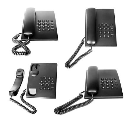 Office phone set isolated on white background Stock Photo - 7584937