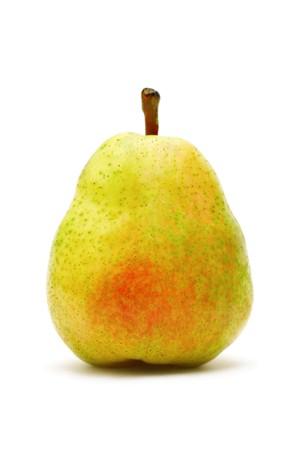 Single ripe pear isolated on white background Stock Photo - 7584775