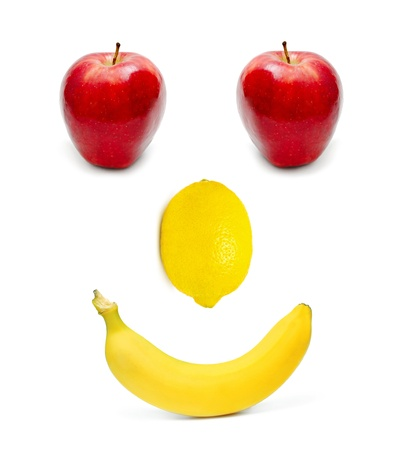 Fruits set as a smiling face photo