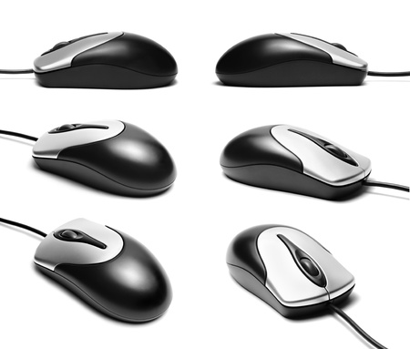 Computer mouse isolated on a white background photo