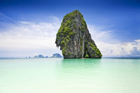 Beautiful rock on the Railay beach, Krabi, Thailand