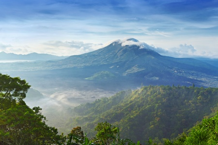 Landscape of Batur volcano on Bali island, Indonesia Stock Photo - 9978030