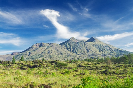 Landscape of Batur volcano on Bali island, Indonesia Stock Photo - 9982275