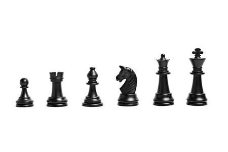 bishop chess piece: Chess figures isolated on a white background