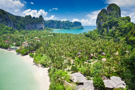 railay: Beatiful Railay bay from view point, Krabi, Thailand Stock Photo