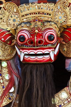 Barong the benevolent beast that scares bad spirits away Bali Stock Photo - 10085680