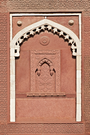 Alcove - Islamic or Mughal Architecture, Agra Fort, India photo