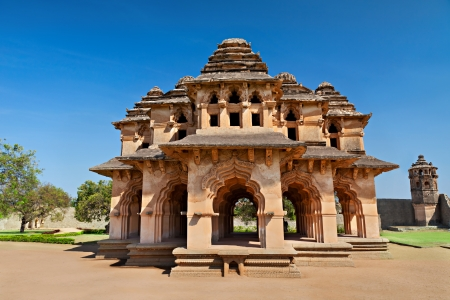 karnataka culture: Beautiful Lotus Temple, Hampi, India Stock Photo