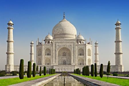 Taj Mahal au lever du soleil lumière, Agra, Inde