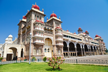 bandera de la india: Palacio de Mysore, Mysore, estado de Karnataka, India
